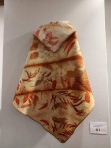 Eco printed lap blanket