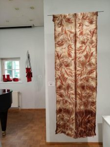 Eco printed wall hanging